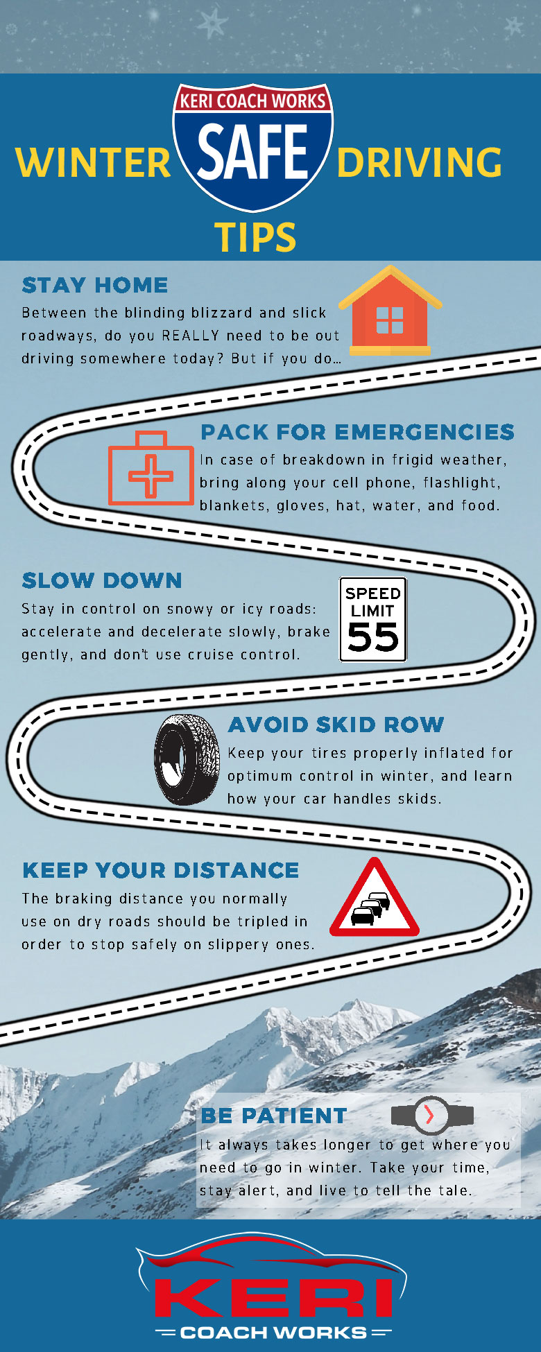 Winter Safe Driving Tips Infographic