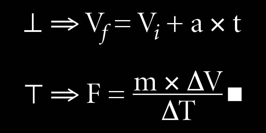 Equation for falling and stopping