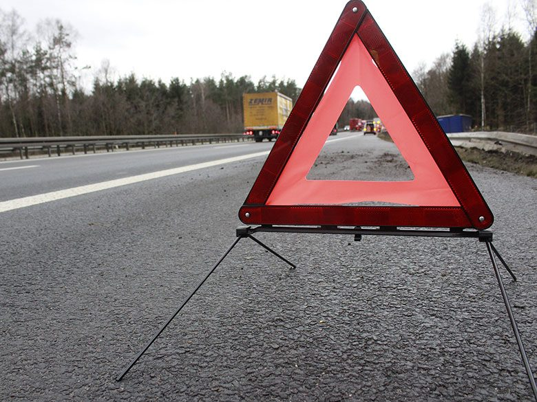 Emergency Road Sign