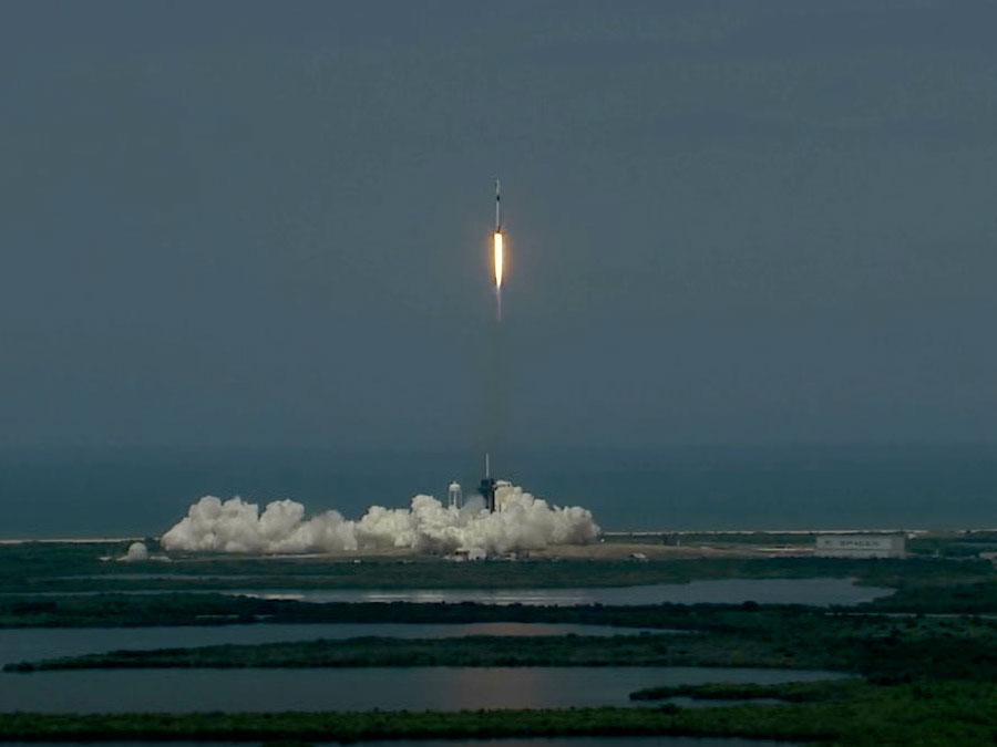 SpaceX Falcon launch, May 2020