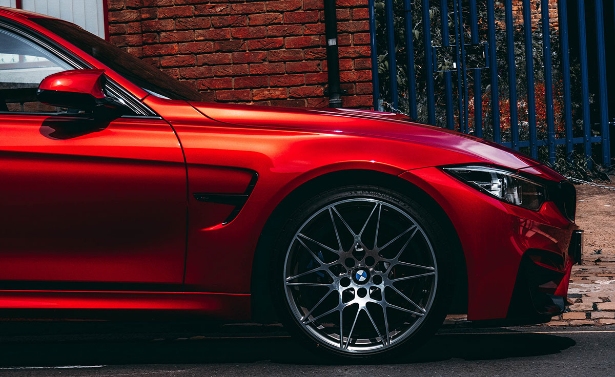 Red BMW