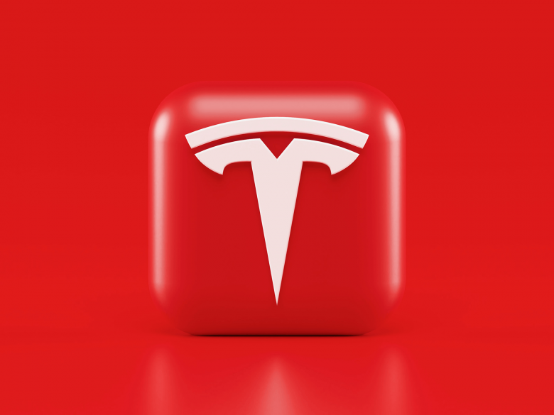 Red Tesla logo